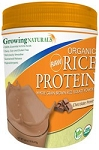 Growing Naturals- Rice Protein Isolate Chocolate 1.0 lb