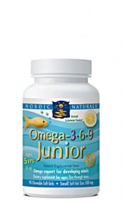 Nordic Naturals Omega 3-6-9 Junior 90 chewable softgels